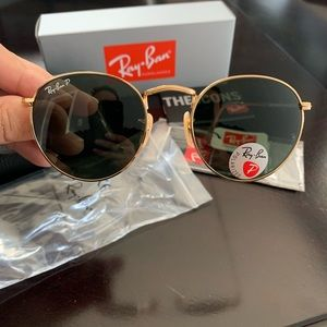 New Polarized Rayban Round Metal Sunglasses RB3447